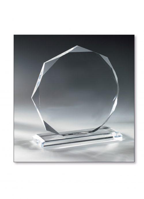 Trophée Verre diamant 17cm