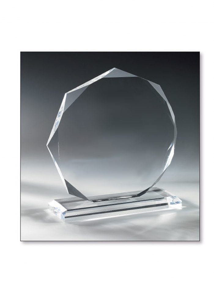 Trophée Verre diamant 20cm