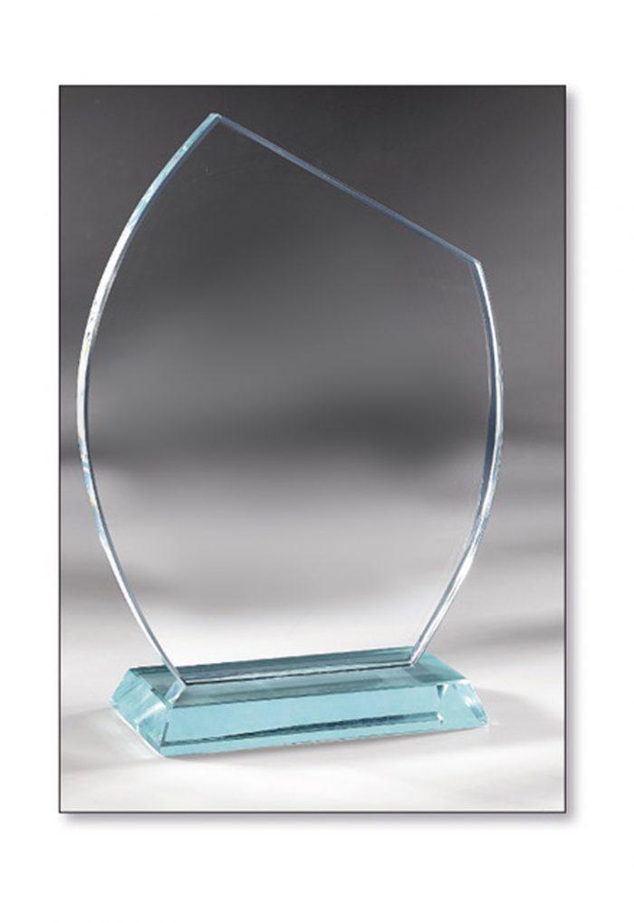 Trophée Verre biseauté 21cm