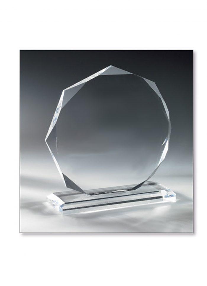Trophée Verre diamant 14cm