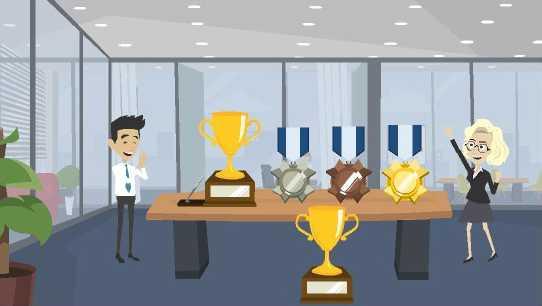 Gamme de coupes, trophées, médailles