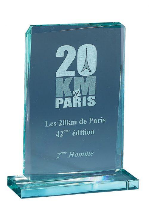 Trophée Rectangulaire Biseauté