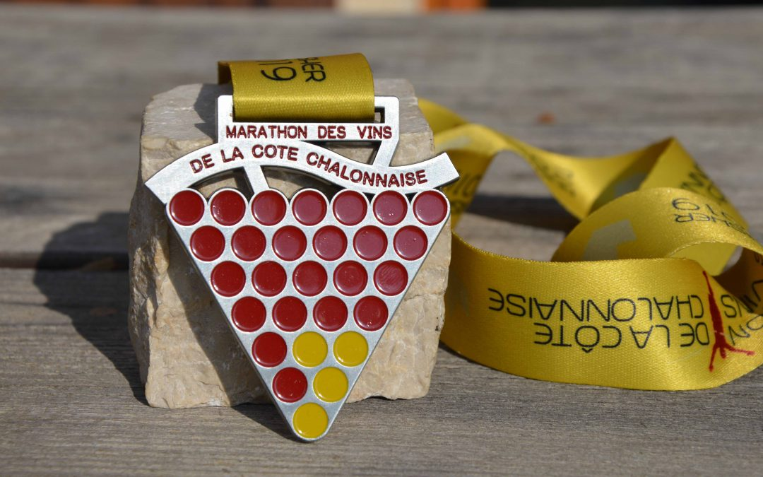 Médaille Finisher Marathon des Vins de la Côte Chalonnaise 2019