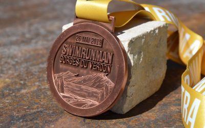 Médailles Swim Run Man