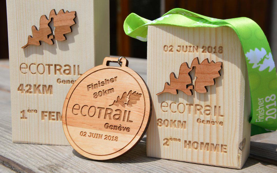 Médaille et Trophée Ecotrail de Genève