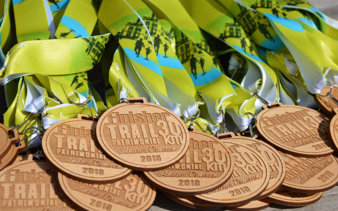 Médaille Trail du Patrimonial