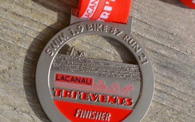 Médaille Finisher Triathlon Lacanau 2018